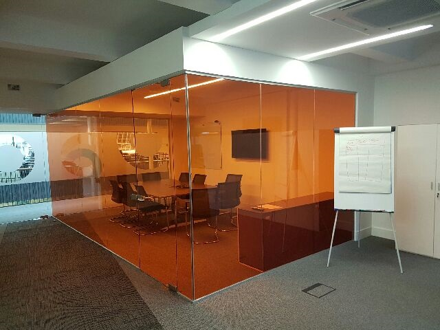 Single Glazed Partition With Full Height Door